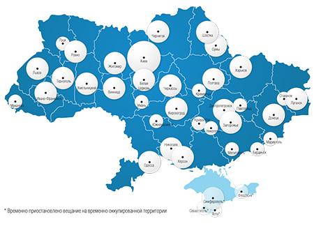 Реклама на Авторадио -  Карта покрытия