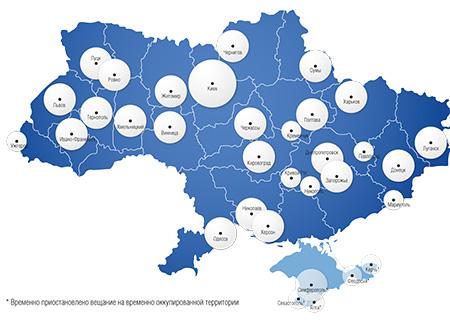 Реклама на радио Europa plus - Карта покрытия